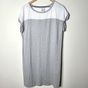 Z by Zella Tunic Top Gray and White Medium